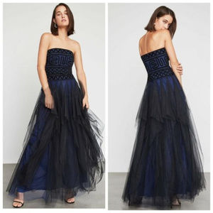 NWT BCBG MAXAZRIA Strapless Embroidered Lace Gown